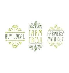 Farm product labels vector