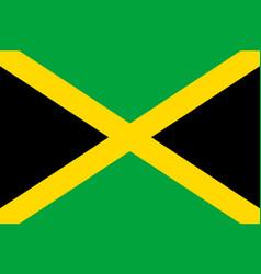 Flag jamaica flat icon vector