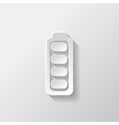 Full battery icon accumulator vector