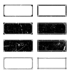 Grunge rectangle frames vector