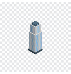 Isolated apartment isometric tower element vector