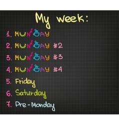 My week vector image vector image