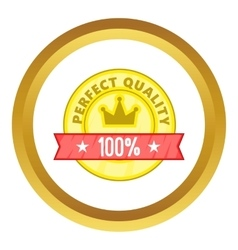 Perfect quality label icon vector