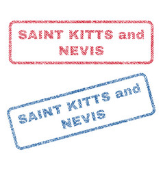 Saint kitts and nevis textile stamps vector