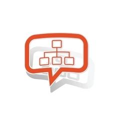 Scheme message sticker orange vector