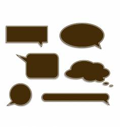speech labels vector image