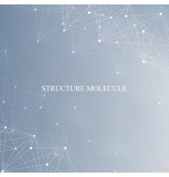 Structure molecule and communication Dna atom vector image