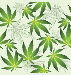 texture with cannabis vector image