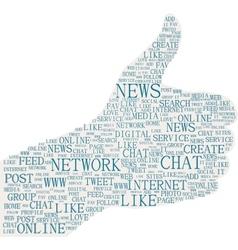 the thumbs up symbol social media themes vector image