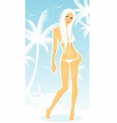 tropic girl vector image vector image