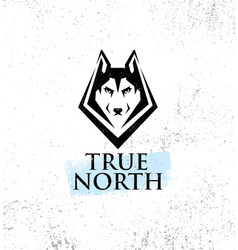 True north active lifestyle outdoor club husky vector