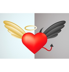Two heart parts vector image