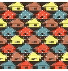 winter village vector image