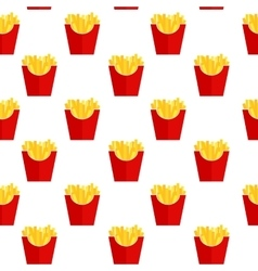 Fast food fried french gold fries potatoes in vector