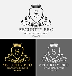 Royal crest security pro logo vector