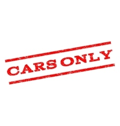 Cars only watermark stamp vector