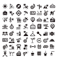 Big travel icons set vector