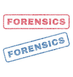 Forensics textile stamps vector