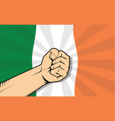 Ireland europe country fight protest symbol with vector