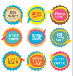 Super sale and quality sticker collection vector