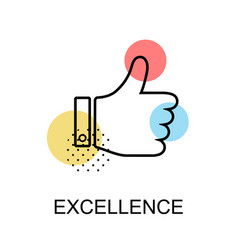 Excellence thump up graphic icon vector