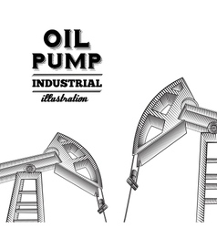 Oil pump jack vector