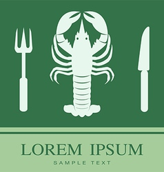 Lobster Fork and Knife icon vector image