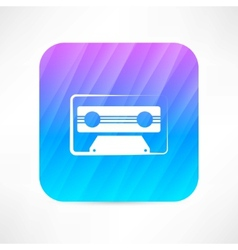Audio tape icon vector