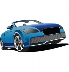 blue cabriolet vector image