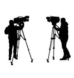 cameraman vector image