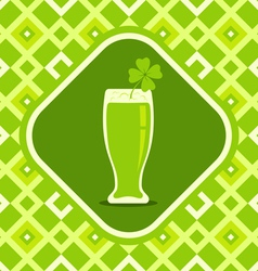 Beer mug and clover vector image