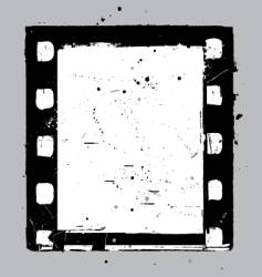 Negative film slide vector