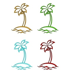 Islands with palms vector