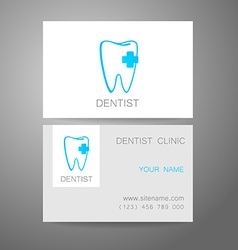 Dental clinic logo business card template vector