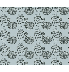 Eat meal breakfast set seamless pattern vector