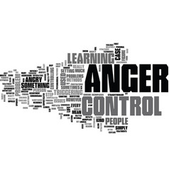 Anger and your health text word cloud concept vector