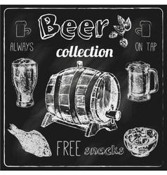Beer icons blackboard set vector image