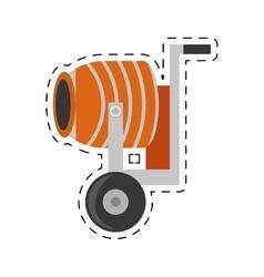 Cement mixing machine wheel cut line vector