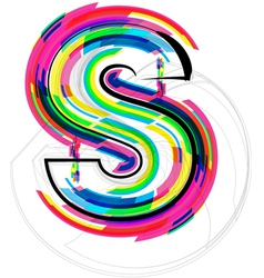 Colorful Font - Letter s vector image