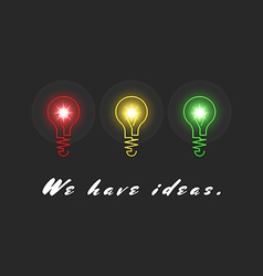 Concept innovation ideas inspiration creative vector image