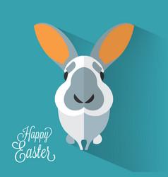 Easter bunny portrait vector