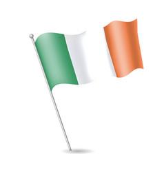 flag of ireland on the flagstaff vector image