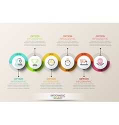 Flat connection timeline infographic design vector image vector image