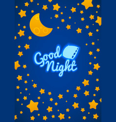 Good Night Bed Time vector image
