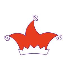 Harlequin hat icon vector