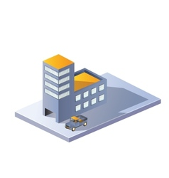 Image factory in isometric vector image vector image