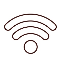 Isolated wifi weaves design vector