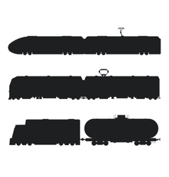 Modern vintage trains black and white vector