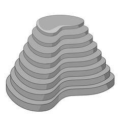 Rice terraces icon monochrome vector