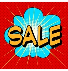 Sale the word comic style vector image vector image